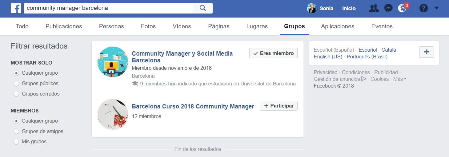 grupos de Facebook buscador