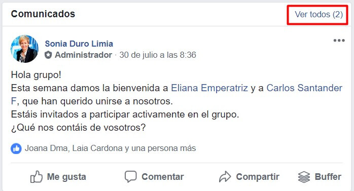 grupos de Facebook comunicados 2