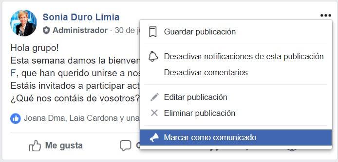 grupos de Facebook comunicados 1