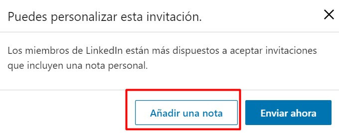 contacto personalizado LinkedIn via PC