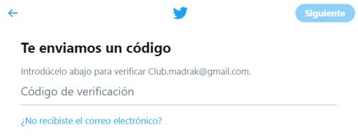 crear cuenta twitter paso 5