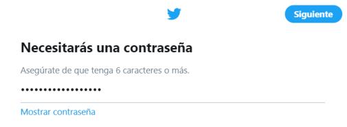 crear cuenta twitter paso 6
