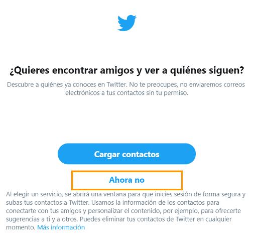 crear cuenta twitter paso 7
