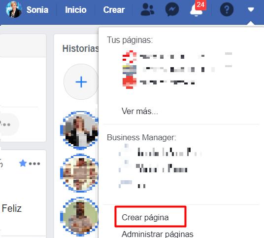 crear pagina de facebook para empresas paso 1.2