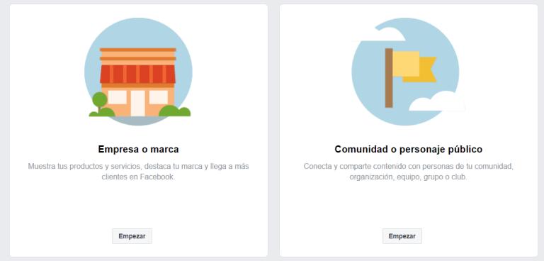 crear pagina de facebook para empresas paso 2.1