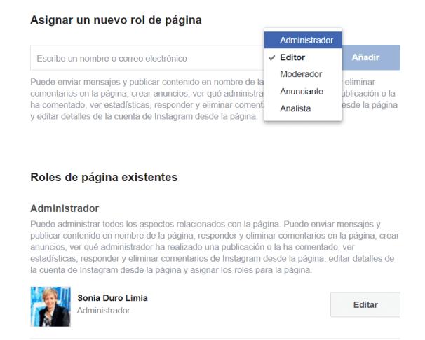 crear pagina de facebook para empresa administrador
