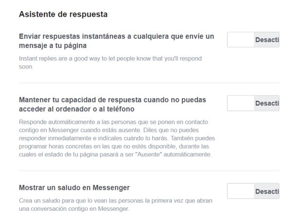 crear pagina de facebook para empresa mensaje