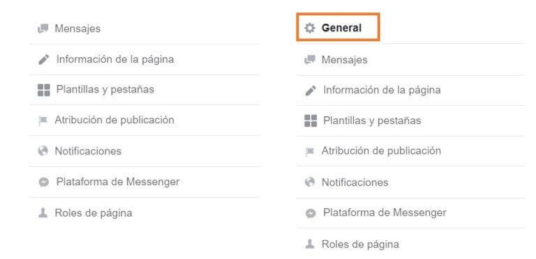 paginas globales de Faebook configuracion 1