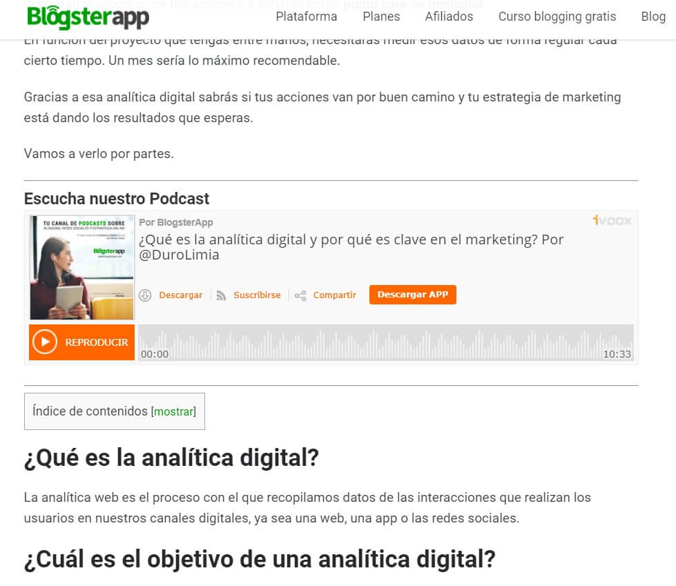 promocionar un blog con un podcast