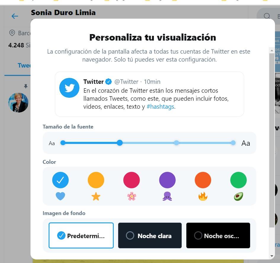 que es twitter personalizar