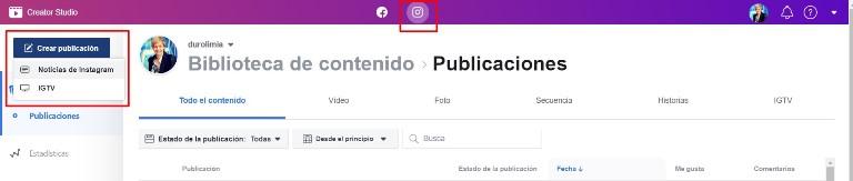 programar en instagram con creator studio