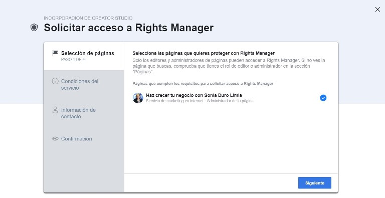 solicitar acceso a rights manager