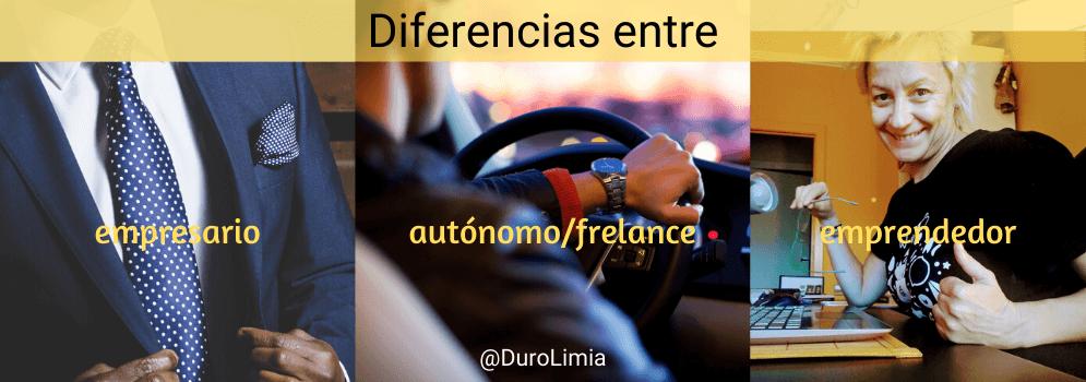 diferencias empresario freelance emprendedor