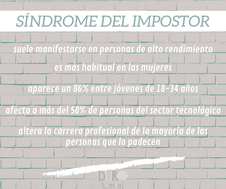 datos estadísticos sobre el sindromedelimpostor
