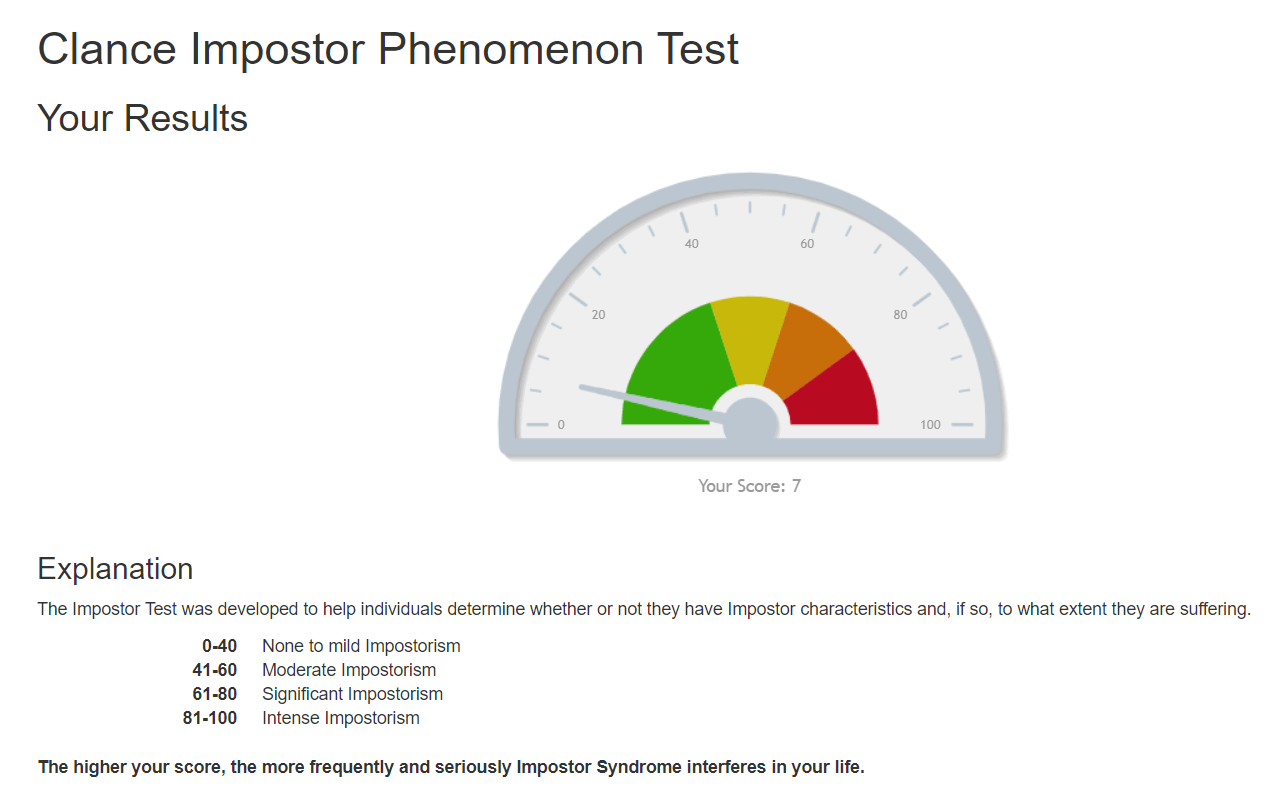 test sindrome del impostor clance