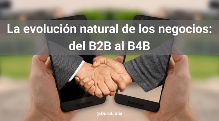 la evolución natural del b2b al b4b