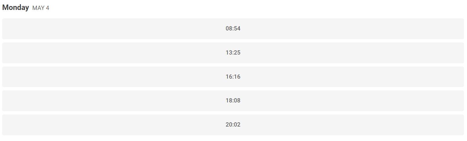 calendario personalizado de buffer