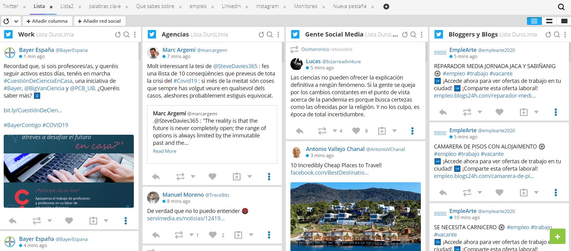 monitorizacion de hootsuite
