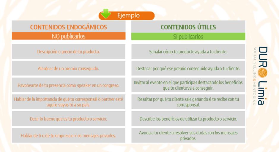 ejemplos de contenidos utiles