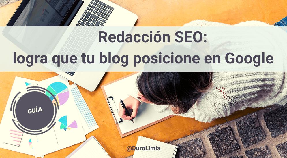 Sonia Duro Limia - Redacción SEO: guía para posicionar los contenidos de tu blog en Google