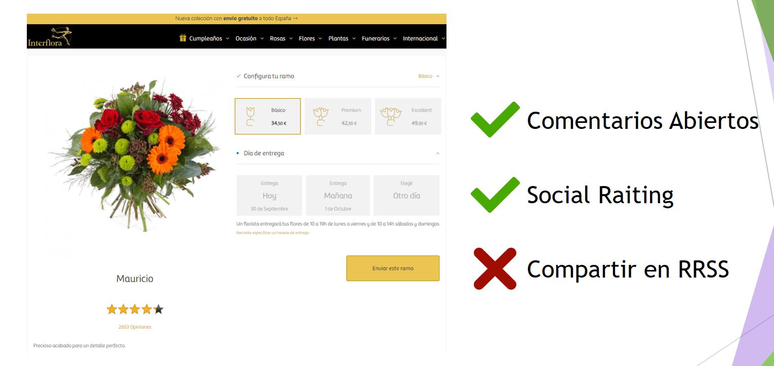 interflora ejemplo de social commerce