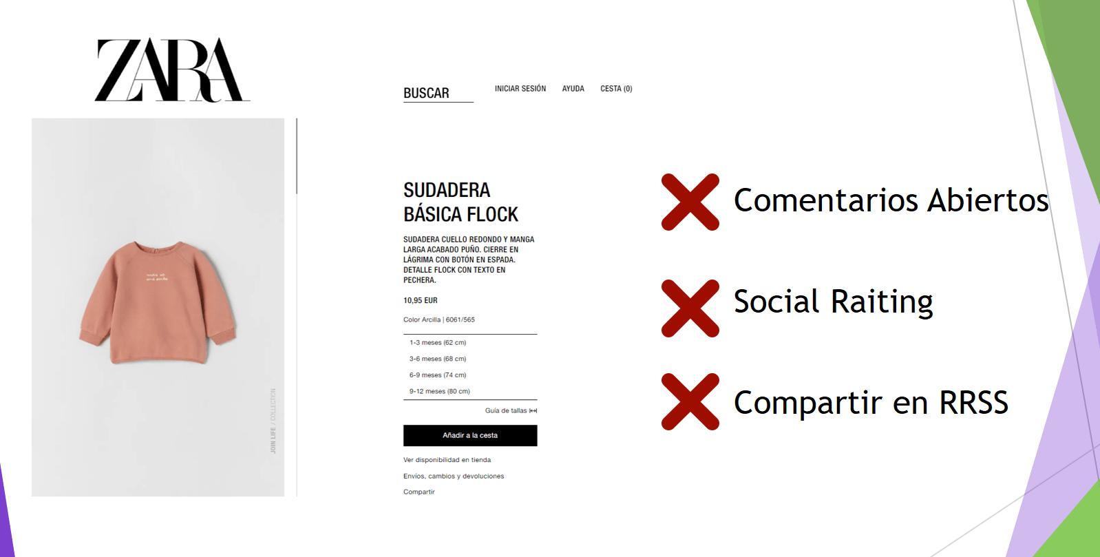 zara ejemplo de social commerce